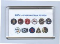 NASA Gemini Program Fridge Magnets